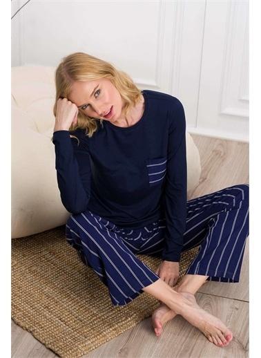 Pierre Cardin Lacivert, Kadın Pijama Takımı Lacivert